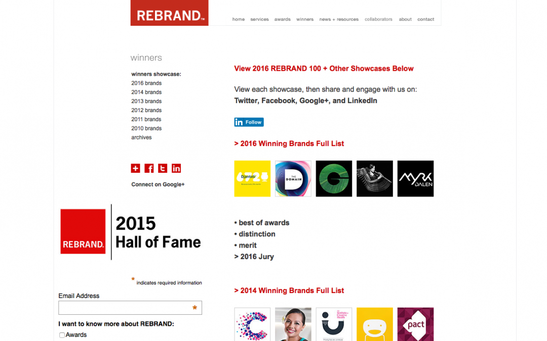 Rebrand features huge repository of case studies to inspire